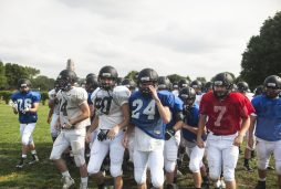 Fenwick players break huddle during summer practice. (William Camargo/Staff Photographer)