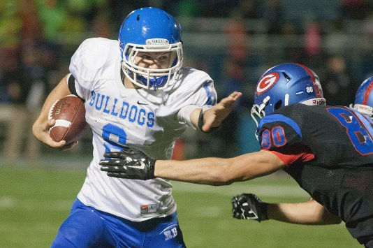 RBHS senior quarterback Ryan Swift completed 19 of 33 passes for 188 yards and TD in the Bulldogs' 21-7 win against St. Edward on Friday. Swift, who also plays linebacker, recovered a fumble to set up the team's first touchdown. (File photo)
