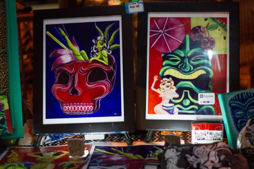 Tiki-inspired artwork of Kira Padilla Aguirre. | Stacey Rupolo/Contributor