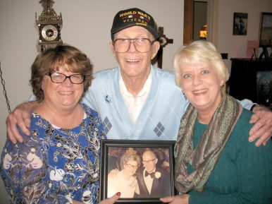 Howard Garst with his daughters, Peg Terhune (left) and Cindy Ohlrich. | Submitted