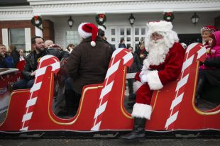 Santa and Mrs. Claus arrived at the Brookfield Village Hall last December in a horse-drawn sleigh to kick off the holiday season. | FILE 2014