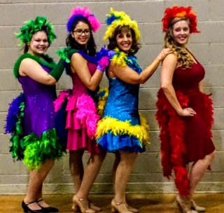 Flocking together: Performing in Seussical will be Mayzie and Her Bird Girls, also known as (from left) Julia Barnes, Elizabeth Macy, Dina Tardi and Collette Jurek.| PHOTO PROVIDED