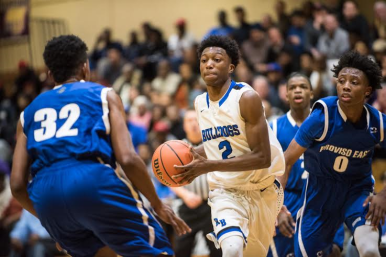 RBHS guard Jalen Clanton scored 20 points during the Bulldogs' 74-69 loss to Proviso East in the St. Ignatius Regional finals of the Class 4A playoffs Friday night.