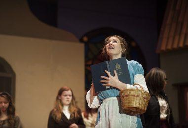 Noelle Harazin (Belle) at a recent dress rehearsal. | William Camargo/Staff Photographer