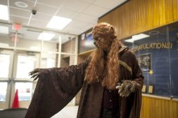 Vegas Cuplniskas (Beast) hones his performance. | William Camargo/Staff Photographer