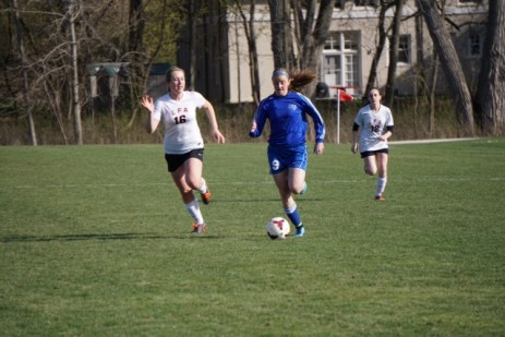 RBHS sophomore Allie Kucera, right, is one of the top scorers and players in the state. She scored 27 goals as a freshman last spring. (Photo by Jamie Kucera)