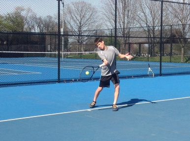 Fenwick junior Nico Halter could see action in both singles and doubles for the Friars this spring. (Photo courtesy Fenwick Athletic Department)