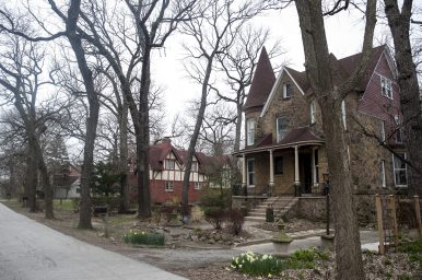 A handful of homes in Riverside lawn, including these buildings on Stanley Avenue require historic review by the Illinois Historic Preservation Agency. | William Camargo/Staff Photographer