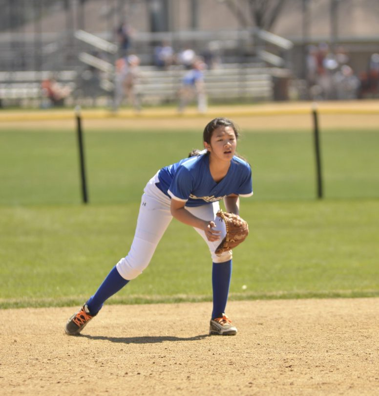 RBHS freshman Kailyn Ngo has shown tremendous speed and instincts on the field. The promising freshman shortstop is hitting .341 with a team-high four stolen bases. (Submitted photo)