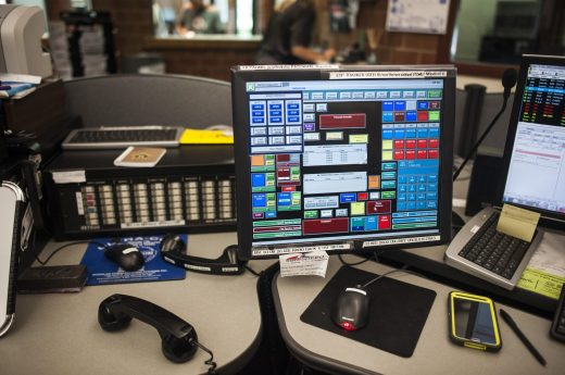 A view of the dispatch center in North Riverside. | William Camargo/Staff Photographer