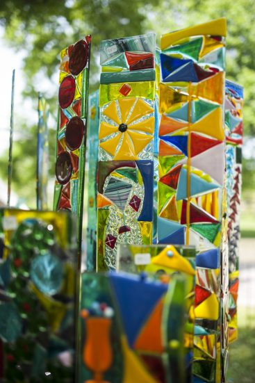 Glass work by Janice and Rick Moore on display. | William Camargo/Staff Photographer