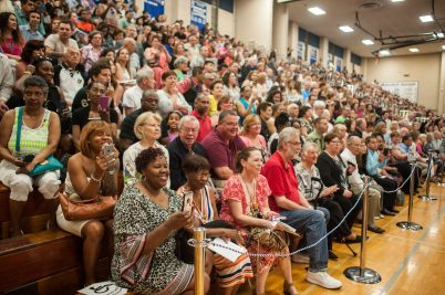Family and friends filled the gym for the class of 2016. | William Camargo/Staff Photographer