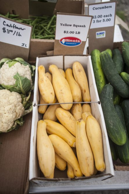 A view of fresh produce at the Brookfield Farmers Market. | William Camargo/Staff Photographer
