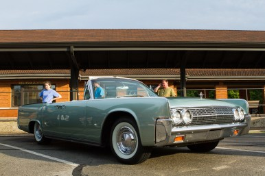 The mint green '63 Lincoln Continental is Scott Taber's first classic car. He displayed it at the first Cruise Night in downtown Riverside on Thursday, June 9. | Stacey Rupolo/Contributor