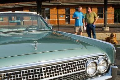 The mint green '63 Lincoln Continental is Scott Taber's first classic car. He displayed it at the first Cruise Night. | Stacey Rupolo/Contributor