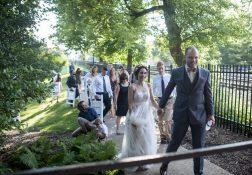 Mara Crestani and Ed Yanasak were married at the Riverside train station in downtown Riverside on June 25. | William Camargo/Staff Photographer