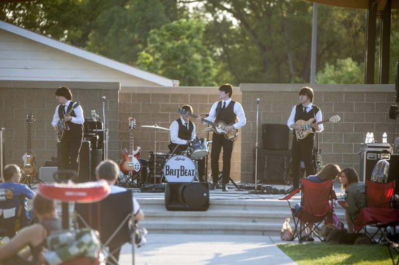 Brit Beat, a Beatles tribute band featured on June 24 during Brookfield's Friday Night Outdoor Concert Series in Kiwanis Park. | William Camargo/Staff Photographer