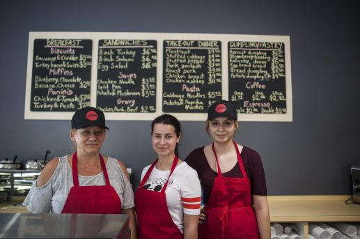 Erika Koreas, Sona Sabol, and Elida Campos of Erika's Deli in Riverside. | William Camargo/Staff Photographer