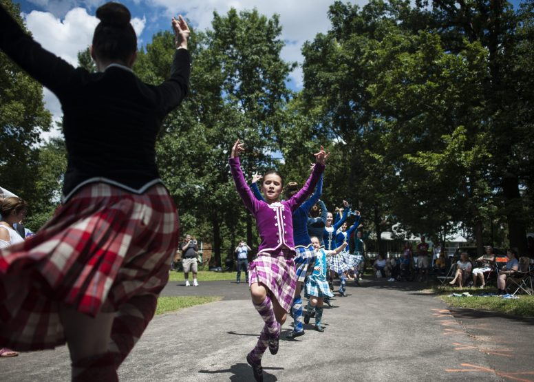 The Highland Dancers perform classic Scottish dances during the 100th Annual Scottish Home Picnic in North Riverside on Aug. 6. | William Camargo/Staff Photographer