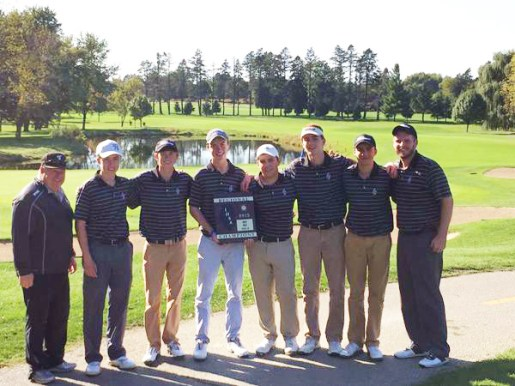The Fenwick High School boys golf team finished fifth in the state in Class 2A last season. Four starters return this season as the Friars have been bumped back up to 3A. (Courtesy Fenwick Athletic Dept./Twitter)