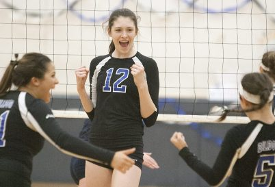 6-foot-8 senior Dana Rettke is not only the top player for RBHS but one of the best in the country. Next season, she'll play college volleyball at Wisconsin. (File photo)