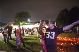 Noel Carey and his daughter Carey enjoy the Autumn Fest live music. | William Camargo/Staff Photographer