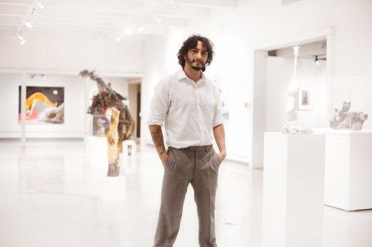 Art shows at the Riverside Arts Center with artist Luis Sahagun. | Claire Gutierrez Photography