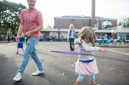 Harriet Snow hula hoops during Fall Fest at Hollywood Elementary in Brookfield on Oct. 15.   William Camargo/Staff Photographer