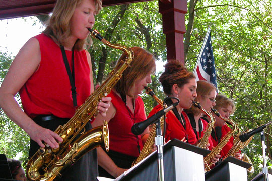 Brookfield Jazz Society's annual Christmas party featuring a performance by the all-female Chicago Outskirts Big Band