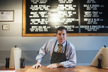 Scott Zimmer celebrated 20 years as a Riverside restaurateur on Dec. 5, the day he opened his newest eatery, Sawmilly, on East Burlington Street. | William Camargo/Staff Photographer