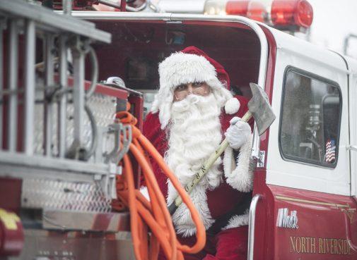Santa in North Riverside during his annual tour. | William Camargo/Staff Photographer