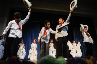 Students from Congress Park and Forest Road schools in District 102 perform Mexican folk dances at the Expo de Arte Fina at Park Junior High in LaGrange Park on May 17. | William Camargo/Staff Photographer