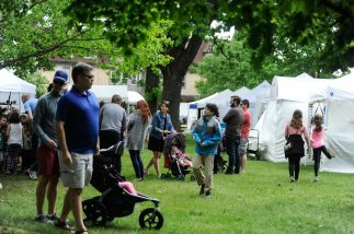 People walk around the annual Riverside Arts Weekend event in Guthrie Park on May 21. | William Camargo/Staff Photographer