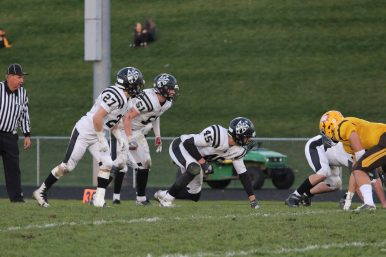 Fewnwick sophomore Jacob Kaminski (#45) had 35 tackles and 7.5 sacks in 13 games during his high school debut. Tihs season, he leads the Friars' defense which returns six starters. (File photo)