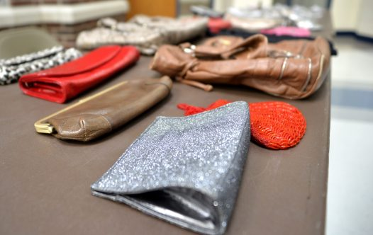 Purses and other accessories are displayed on a table during the RBHS PTO's Fall Flash Boutique at the high school. | Alexa Rogals/Staff Photographer