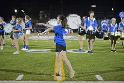 RBHS Marching Band performs during Riverside-Brookfield High School's Homecoming halftime show on on Sept. 22. | Photos by Alexa Rogals/Staff Photographer