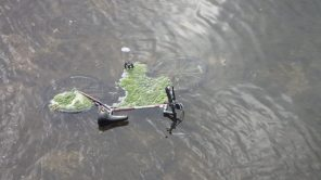 The Riverside Fire Department fished Amir Johnson's bicycle from the river, where it was thrown during his confrontation with Mosqueda and Sapaula. (Photo courtesy of the Riverside Police Department)