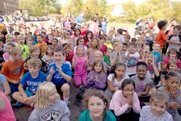 Students cheer as the principal gets pie thrown in his face on Oct. 20, at Central Elementary School in Riverside. | Alexa Rogals/Staff Photographer