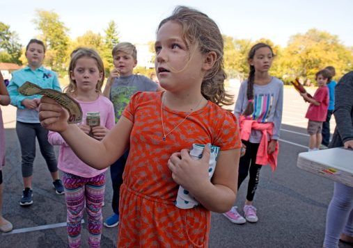Students buy duct tape pieces on Oct. 20, at Central Elementary School in Riverside. | Alexa Rogals/Staff Photographer