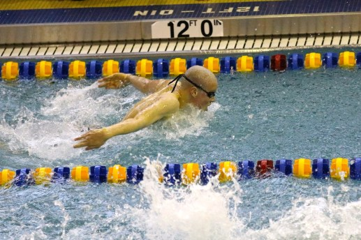Jeffrey Vitek is one of the Lions' most versatile and experienced swimmers. (Photo by Alison Credit)