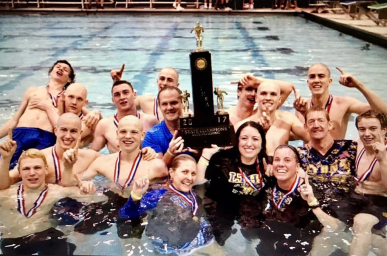 The LTHS boys swimming team won its second straight state titles during the spring. The Lions edged rival Hinsdale Central to claim the championship. (File photo)