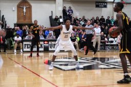 Fenwick sophomore DJ Steward is an excellent defensive player. He can also score which he proved over the weekend with 44 points in two high profile games against St. Rita and Morgan Park. (Photo by Ian McLeod)