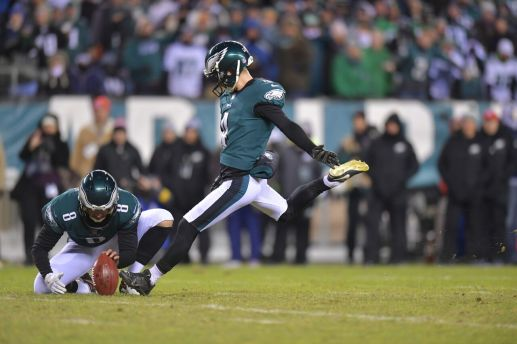 Philadelphia Eagles rookie kicker Jake Elliott set six records this season, three Eagles records and two NFL records. (Photo courtesy of Philadelphia Eagles)