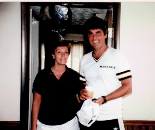 Mary Margaret and Dan Hull celebrating the 1985 Little League World Series win. | Provided