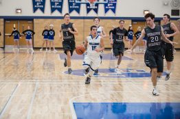 RBHS junior point guard Zach Vaia (#25) was named the Metro Suburban Conference Player of the Year this season. (File photo)