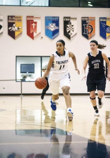Trinity senior Lauren Lee had a terrific career with the Blazers. She will play hoops next season at the University of California, Santa Barbara. (File photo)