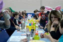 Attendees play bingo on March 23, during Bunny Bingo at the Village Commons in North Riverside. | Alexa Rogals/Staff photographer