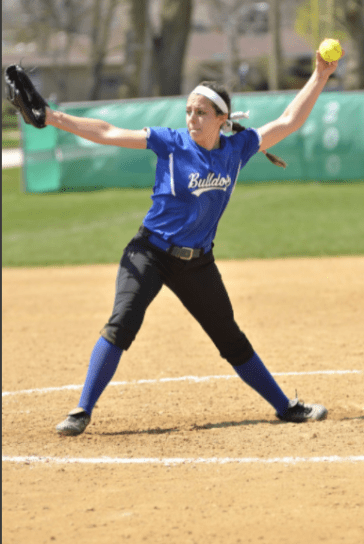 RBHS pitcher Nadia Ranieri is a hard-throwing lefty with tremendous potential. She's also an excellent hitter. (Photo by Toan Ngo)