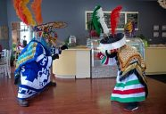 Chinelos dancers performing at La Estancia, a Mexican eatery in downtown Riverside. | Alexa Rogals/Staff Photographer
