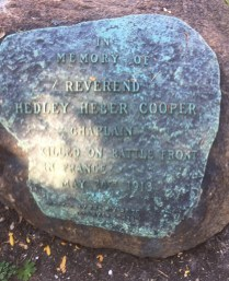 In 1921, Riverside erected a memorial to three men who died while serving the country during World War I. Their names are inscribed on bronze plaques, which were affixed to boulders still located in Guthrie Park.   Bob Uphues/Editor